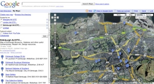 Screen Capture of Art e-Maps