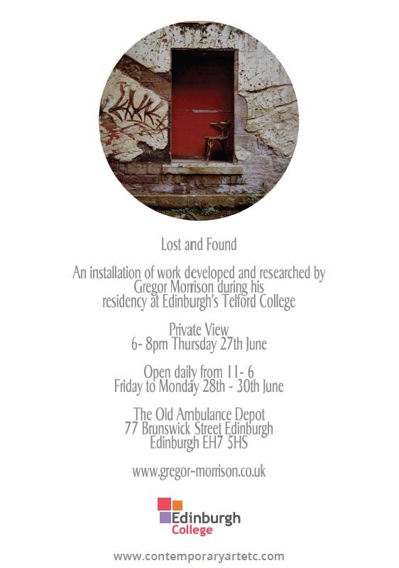 AIRetc... Gregor Morrison Residency Exhibition